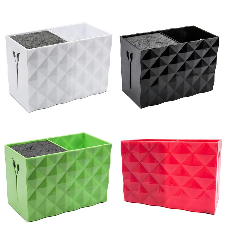 Double Double Row Scissors Storage Box Plastic Practical Clipper Case For Pro Salon Barber Home Hairdressing Tools Acrylic Comb