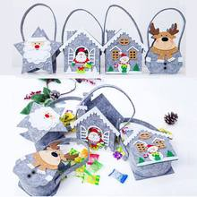 Portable Felt Kid Handbag Christmas Cookie Candy Gift Holder Treat Bag Xmas