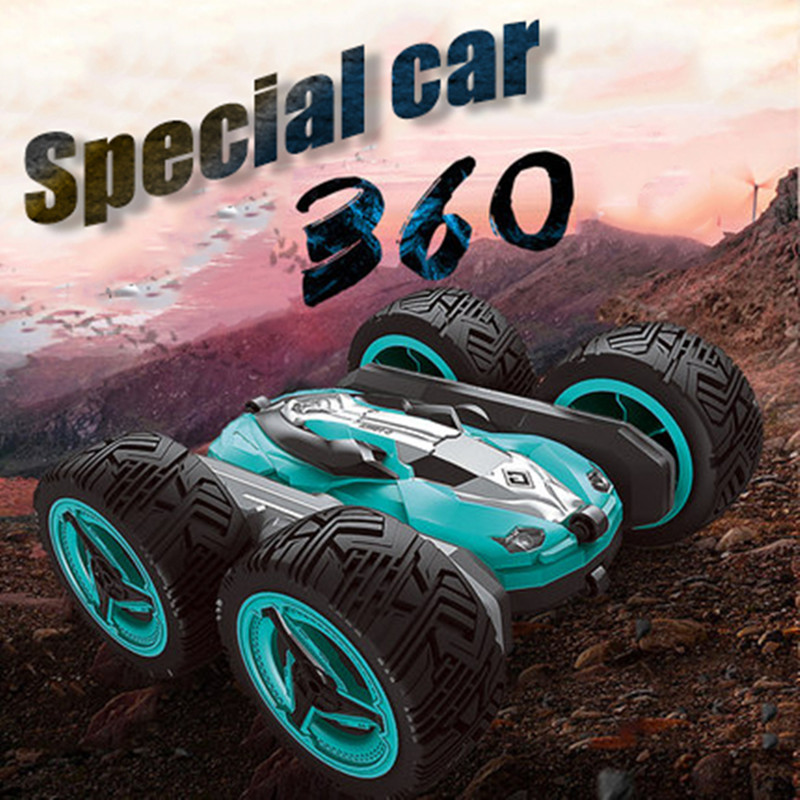 RC Car 2.4G 4CH Stunt Drift Deformation Buggy Car Rock Crawler Roll Car 360 Degree Flip Kids Robot RC Cars Toys for Gifts(China)