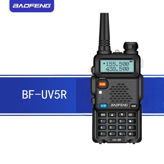 BAOFENG UV5R Walkie Talkie 5W UHF/VHF dual band two way radio 1800mAh batterie kapazität Ham Radio mit tastatur schiff von Moskau