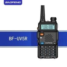 Baofeng uv5r walkie talkie 5 w uhf/vhf banda dupla rádio em dois sentidos 1800 mah bateria capacidade rádio presunto com teclado navio de moscou