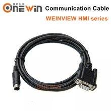 O tela táctil de weintek/weintek hmi conecta a comunicação do cabo do programa do plc entre o plc e o hmi
