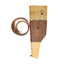 Aolamegs Gun Case Carry Wooden Holster for Mauser C96 M712 Broomhandle Musket Bag Pistol Clip Case Shoulder Stock without Gun