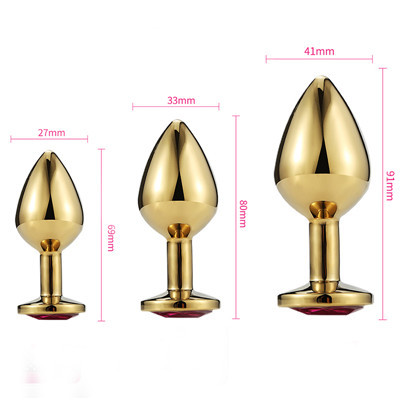 Size Classic gold metal anal plug