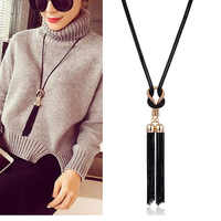2019 New Arrival Female Pendant Necklace Tassel Long Winter Sweater Chain Necklace Necklace Wholesale Sales