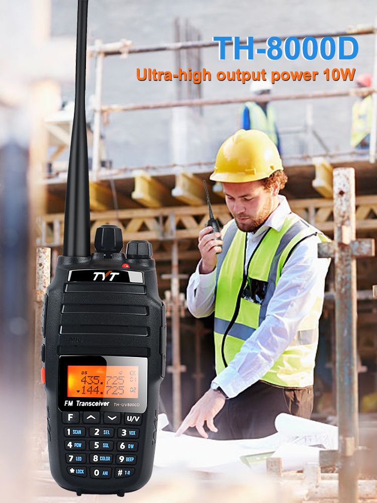 TYT Walkie-Talkie Two-Way-Radio Dual-Band 136-174mhz Handheld Amateur 10W 128CH 400-520mhz-Ultra-High