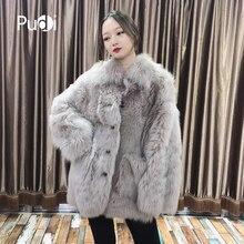 Pudi TX206203 women winter warm Real Tuscan sheep fur coat jacket overcoat lady fashion genuine outwear