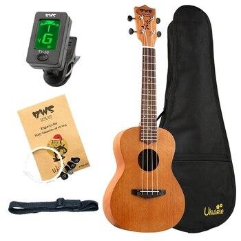цена на BWS EST & 1988 New 23 Inch Ukulele Kit Mahogany Concert Ukulele Hawaiian 4 Strings Small Guitar Guitarra Musical Instruments Gif