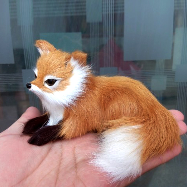 1 Pcs Simulation Animal Foxes Plush Toy Doll Photography For Children Kids Birthday Gift EIG88