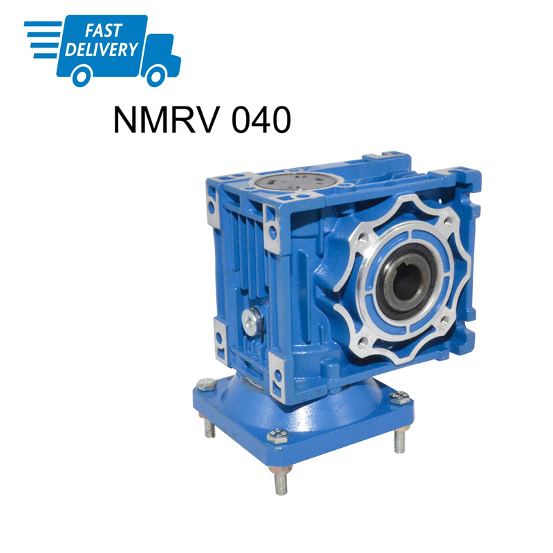 Fast Shipping High Torque NMRV 040 Gearbox Reducer Ratio 5/7.5/10/15/20/25/30/40/50/60/100 High Quality Electric Motor Gearbox