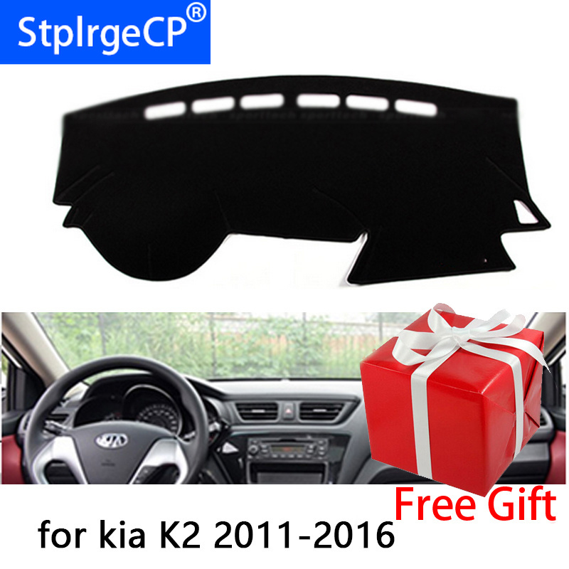 For kia K2 2011 2012 2013 2014 2015 2016 Right and Left Hand Drive Car Dashboard Covers Mat Shade Cushion Pad Carpets Accessorie image