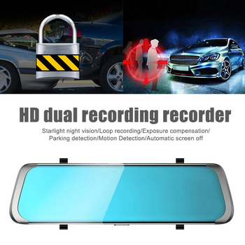 10 Inch 1080P FHD Car Rearview Mirror DVR Camera Driving Recorder Support TF Card AS99