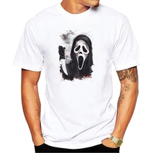 Film Scream T-Shirt Men classic horror movie Scream 3d printed  men clothing summer t shirt short sleeve cotton Top Tees scream ghostface sidney prescott horror thriller movie mens black t shirt s 3xl