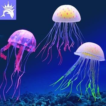 Colorful Fishbowl Decoration Jellyfish Simulation   1