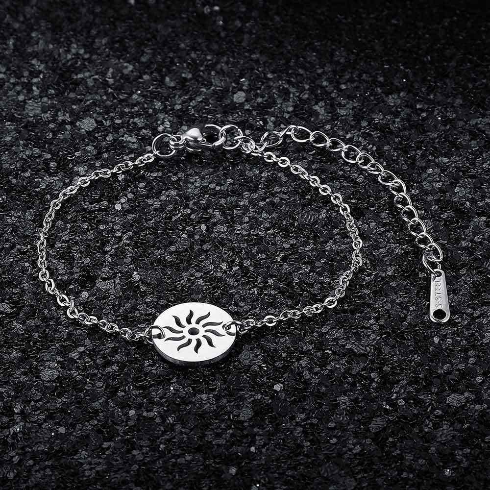 AAAAA Quality 100% Stainless Steel Sun Charm Bracelet for Women Female Fabulous Bracelet Never Tarnish Jewelry Bracelets