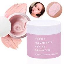 Грязевая маска для лица для умывания розовая глина питательная отбеливающая Очищающая поры против морщин уход за кожей унисекс пилинг лечение акне