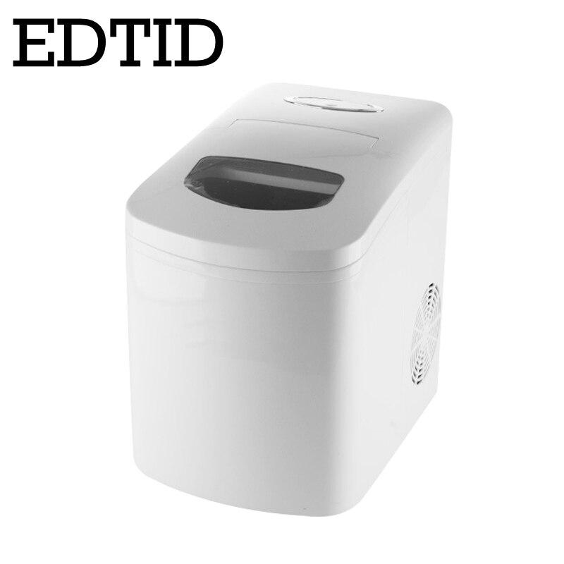 EDTID Mini Automatic Electric Ice Maker Round Block Ice Cube Making Machine Coffee Shop Bar Home 10KG Desktop 10kg/24h