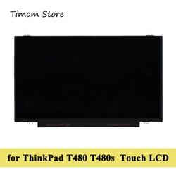 Écran tactile LCD IPS NV140FHM-T00 x 1920, 40 broches, pour Lenovo ThinkPad T480 T480s, 1080 R140NWF5 R1 R140NWF5 R6, B140HAK01.0