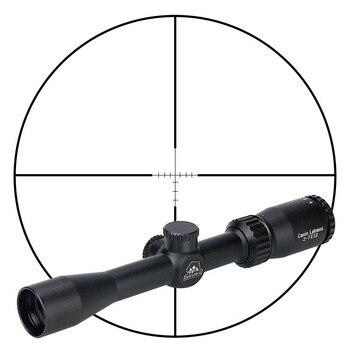 Ajuste táctico de elevación/viento de la retícula del alcance de la mira del riflescope 2-7x32 para caza HK1-0303