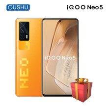 Original vivo iqoo neo5 celular qualcomm snapdragon 870 cpu 120hz atualizar taxa oled tela 4400mah bateria 66w carga telefone