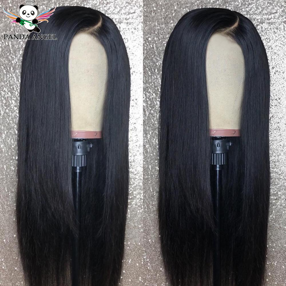 Panda 13x4 Lace Front Wigs 8-26inches Brazilian Straight Lace Front Wig 150% Density Pre Plucked 100% Human Hair Remy Lace Wigs