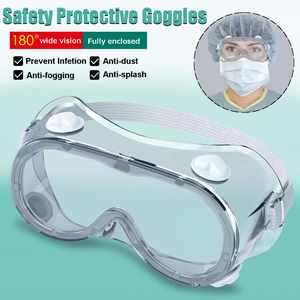 2 Type Protective Safety Goggles Wide Vision Disposable Indirect Vent Prevent Infection