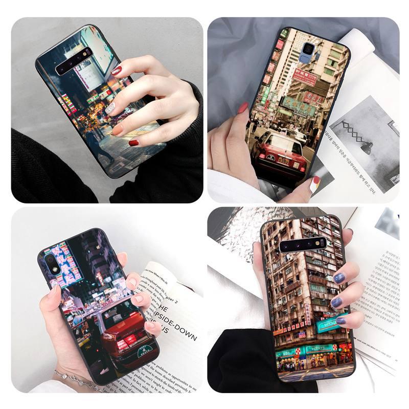 Черный корпус телефона Hong Kong Street для Samsung S10 S10lite S9 plus A10 A20 A30 A40 A50 A50s, Телефоны и телекоммуникации
