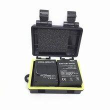 アクセサリー 2 個リチウムイオン電池 3.7V 1050 akku 交換電池 + 1 個 5 メートル防水電池ボックス移動プロ Hero3 +/3 カメラ