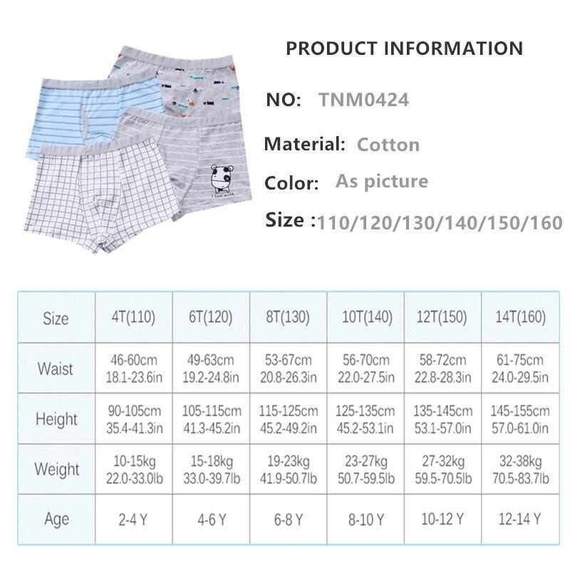 2Pc/Lot Boys Panties Cotton Boxer Shorts Briefs Kids  Children Clothes Underpants 110-160 6