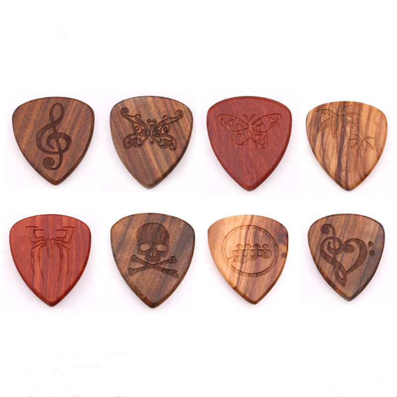 2019 New Solid Wood Guitars Picks Plectrum Picks High-end Fingerpicks Guitarra Picks For Musical Instrument Guitar Accessories