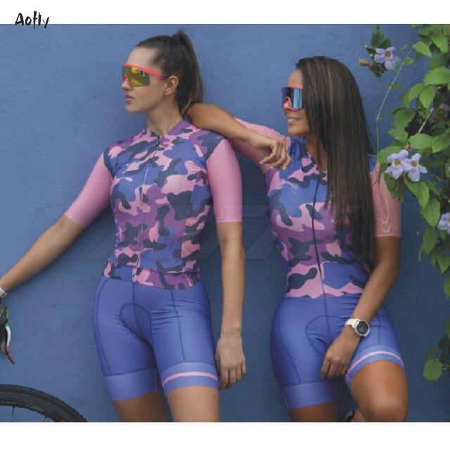 Respirável mulheres jumpsuit Triathlon skinsuit ciclismo roupas de ciclismo ciclismo skinsuit manga curta sportswear ao ar livre das mulheres 3