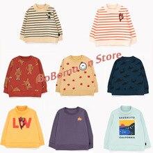 Предпродажа, BoBomoon-TC, зимняя одежда для маленьких девочек Рождественская Детская одежда толстовки для мальчиков на первое Рождество свитер для девочек детские толстовки с капюшоном