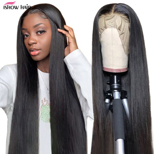 Ishow Straight Human Hair Wigs Pre Plucked 13x6X1 Straight Lace Front Wig Brazilian Hair Wigs Closure Wig 360 Lace Frontal Wig