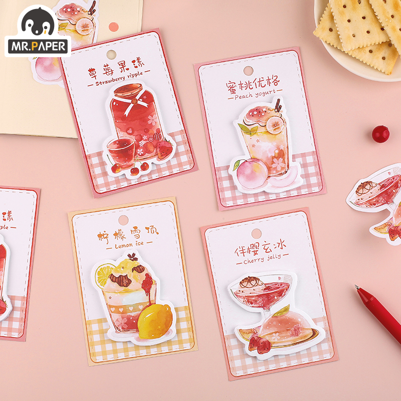 Mr.Paper 4Designs Tea Sweet Journal Diary Stickers Writing Paper Material Flowers Leaves Mushroom Plants Scrapbook Stickers