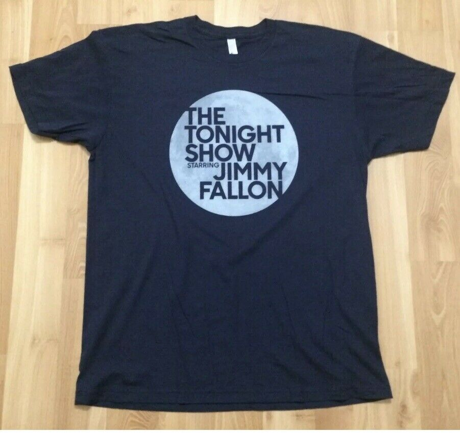 <font><b>THE</b></font> <font><b>TONIGHT</b></font> <font><b>SHOW</b></font> STARRING JIMMY FALLON T SHIRT MENS XL BLUE LATE NIGHT TV SOFT image