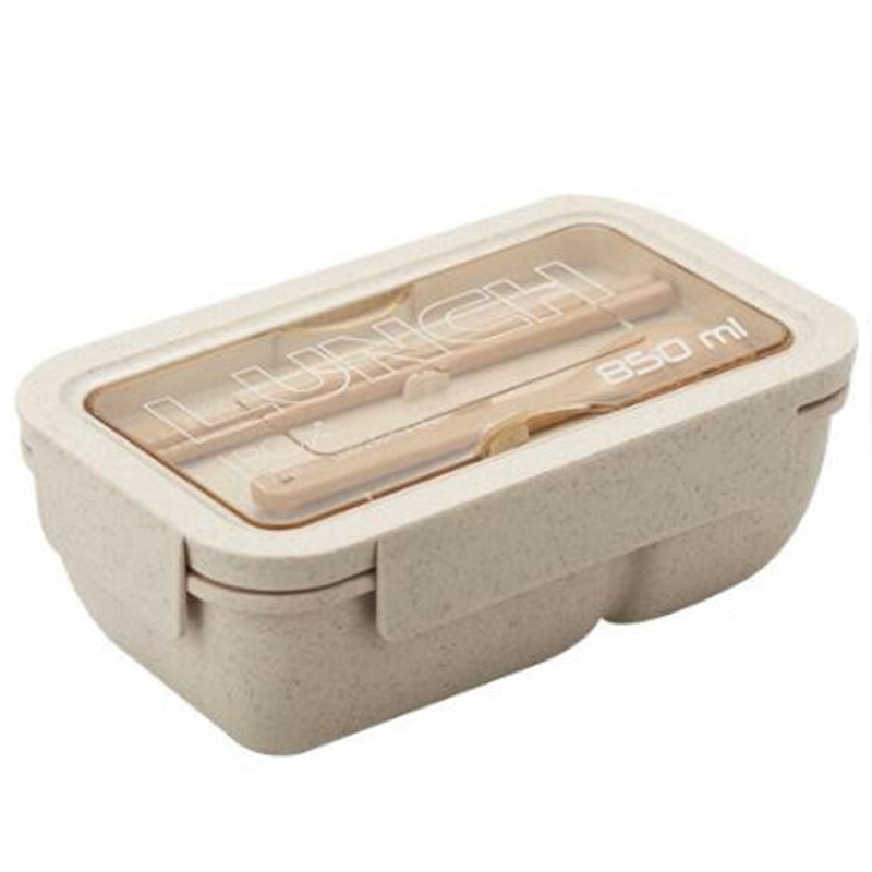 New 850Ml Wheat Straw Lunch Box Bento Boxes Microwave Dinnerware Food Storage Container Lunch Box Lunch Boxes    - title=