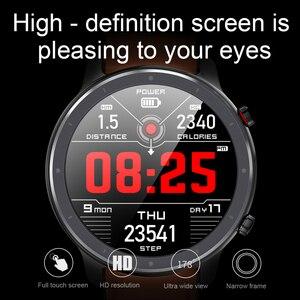 Image 4 - Cobrafly 2020 L11 ساعة ذكية الرجال 1.3 بوصة كامل شاشة تعمل باللمس IP68 مقاوم للماء مراقب معدل ضربات القلب اللياقة البدنية Smartwatch PK DT78 L9 L8