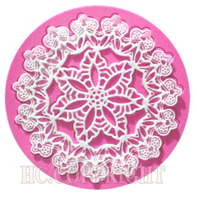 DIY Flower Vine Lace Fondant Cake Decorating Styling tool for Mat cake turning edge Kitchen Silicone Lace Mold Flower Pattern