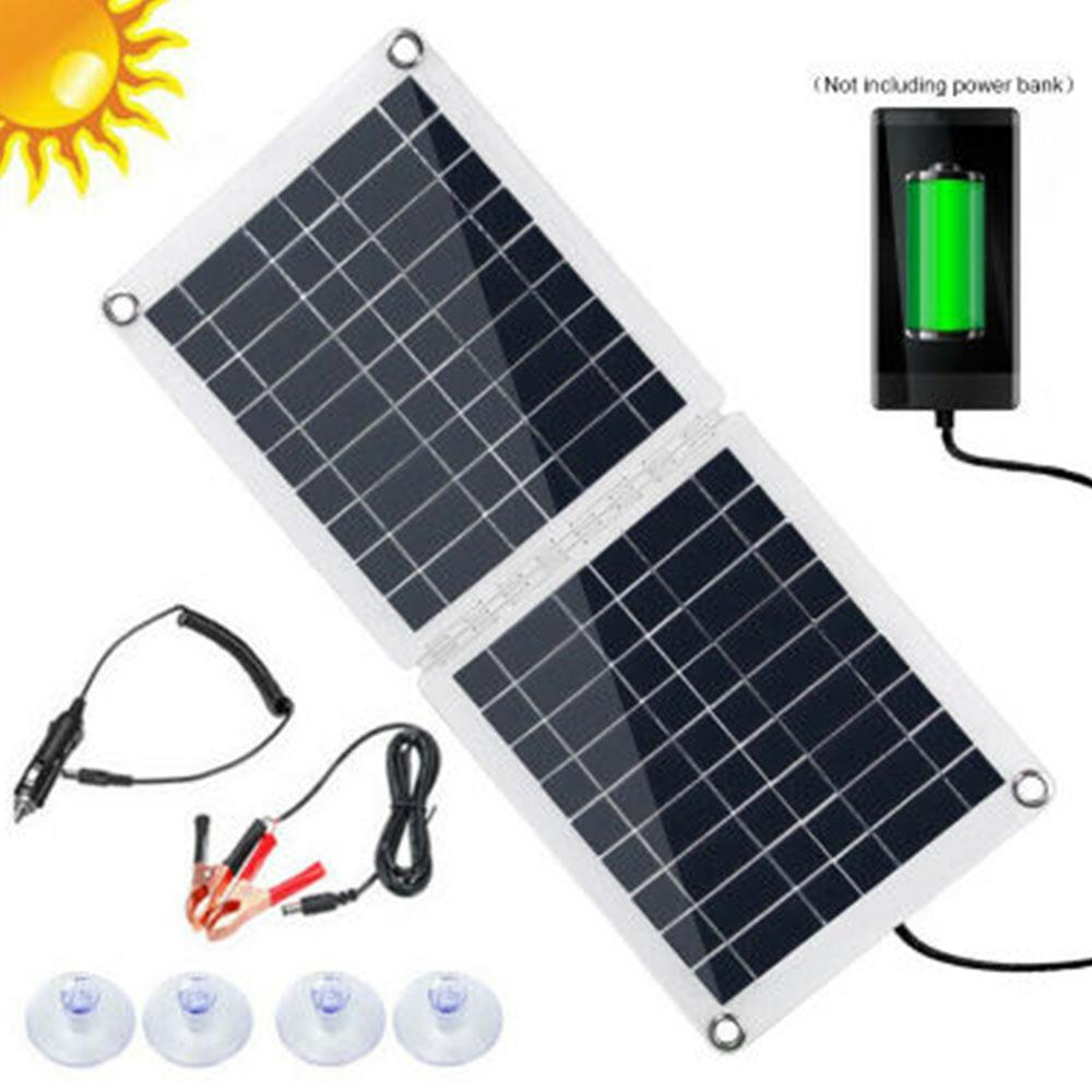 equipamento de carregamento solar usb carregador solar 60w dobravel acampamento veiculo recreativo polissilicon carregador de bateria