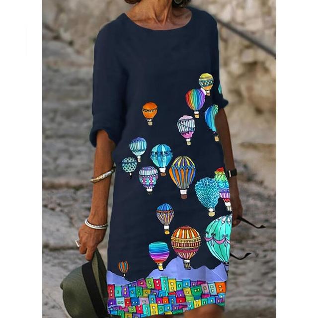 fun designs knee length relaxed dress 3