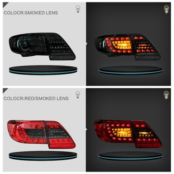 VLAND factory for car tail light for COROLLA LED taillight 2011 2012 2013 with turn signal+reverse light+DRL+play and plug
