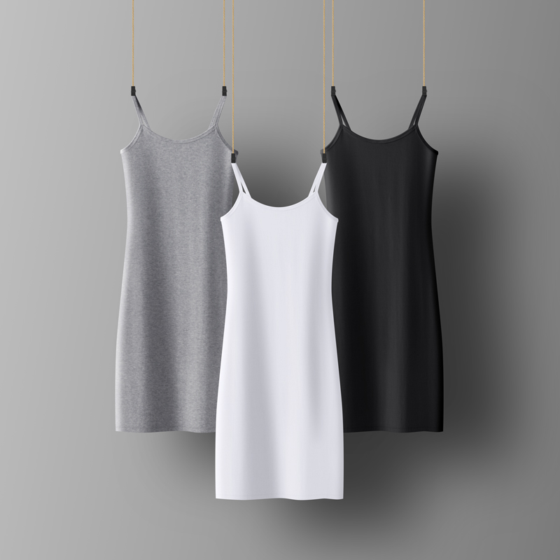 Spring summer  Woman Cotton Soft Tank Dress Casual Satin Sexy Camisole Elastic Female Home Beach Dresses
