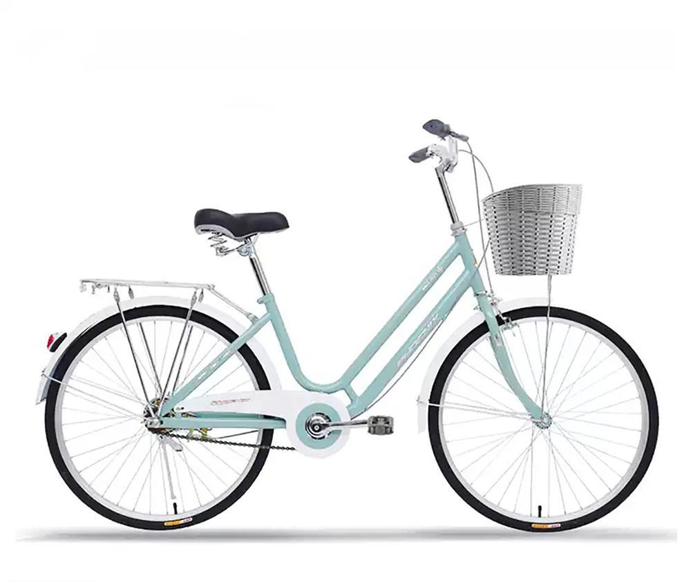 Polegada Senhoras Comum Urbano Retrô Leve Bicicleta 24