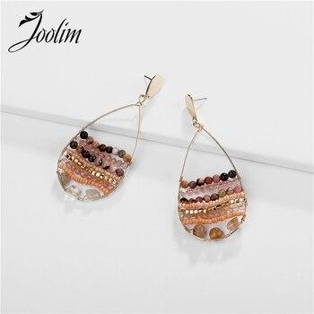 Joolim Jewelry Wholesale Natural Stone Bead Drop Earring Waterdrop Dangle