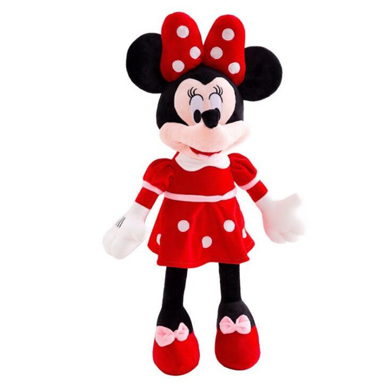 High Quality Disney Mickey Mouse Minnie Cute Cartoon Stuffed Doll Plush Toys Animals Children Birthday Gifts