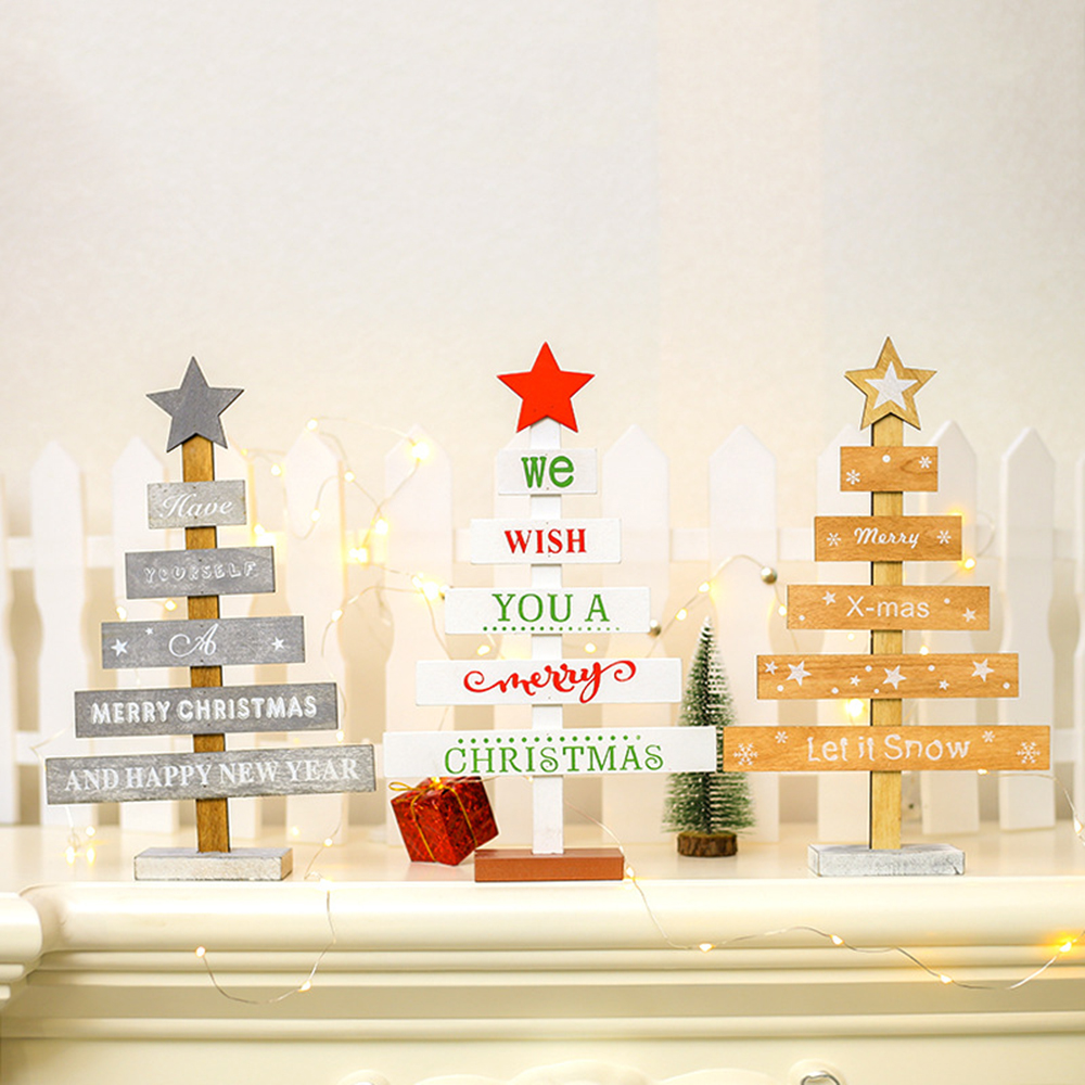 Christmas Wooden Pendants Hanging Door Decoration Xmas Tree Home Party Ornament