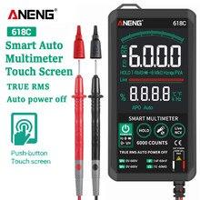 ANENG – multimètre numérique 618C tactile intelligent DC, barre analogique True RMS, testeur automatique professionnel de condensateur de Transistor, testeur NCV