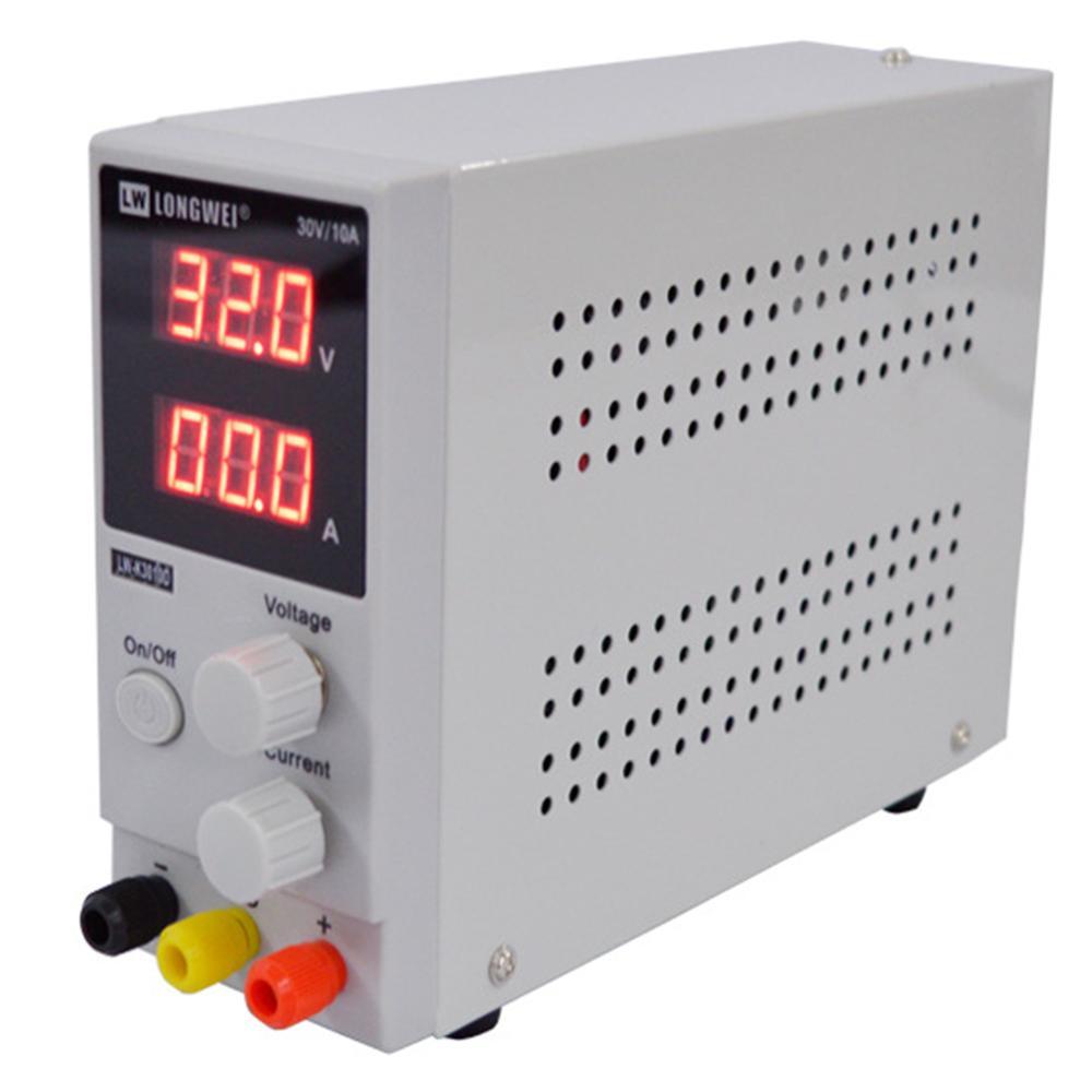Fuente de alimentación CC de 30V 10A con pantalla ajustable de 3/4 bits, Mini regulador de voltaje de fuente de alimentación de laboratorio K3010D para reparación de teléfonos