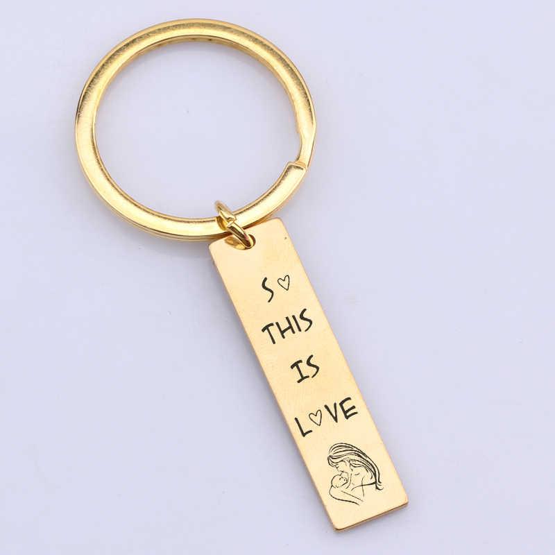 Nóng Móc Khóa Chữ Nên đây là tình yêu Chìa khóa Để Thể Hiện Tình Yêu của Mẹ Dành Cho Bé Tinh Tế Phụ Kiện Trang Sức