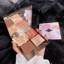 Hilight 4 Highlighter Bronzer Iluminador cor Paleta de Maquiagem Rosto Blush Shimmer Em Pó Contorno Paleta Cheek Blush Cosméticos
